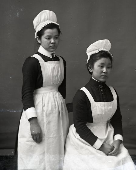 Starston, two members of the household staff of Alfred Taylor 1890s. Photo: Norfolk County Council w