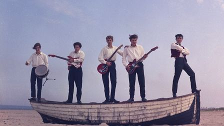 Great yarmouth The Rapiers a band on the beach early 1960s. Photo: Brian Ollington/Norfolk County Co