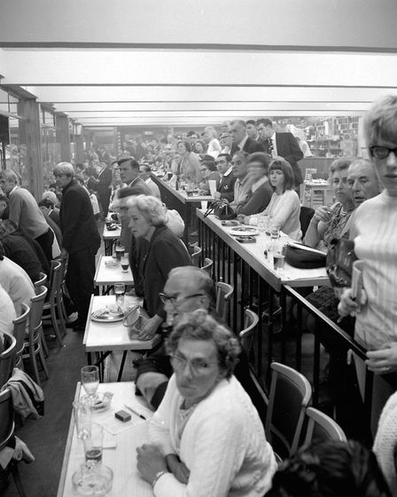 Yarmouth Greyhound stadium people watching in the bar 1970. Photo: Brian Ollington/Norfolk County Co