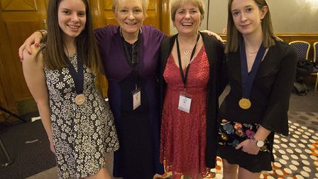 College of West Anglia at WorldSkills Awards. (L to R): Molly Pickels, Ann Compton (Curriculum Suppo