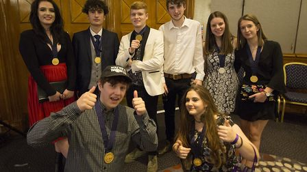 College of West Anglia at WorldSkills Awards. (L to R from the back): Chelsea Everitt, Alex Williams