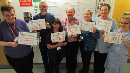 Staff at Norfolk Community Health and Care have made pledges during NHS Fab Change Week. Roisin Fall