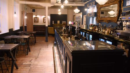The bar area at the Last Pub Standing, newly opened in King Street. Picture: DENISE BRADLEY
