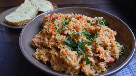 Food at the Last Pub Standing, newly opened in King Street. Louisiana Jambalaya. Picture: DENISE BRA