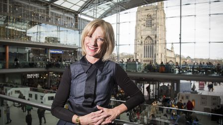 Jane Horrocks at the Forum to take a part in the Norwich Film Festival event.Picture: Nick Butcher