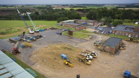 An aerial view of the National Construction College at Bircham Newton, operated by the Construction