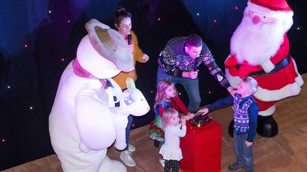 The Snowman and Father Christmas at the Castle Mall official Christmas Light switch-on for the 2017