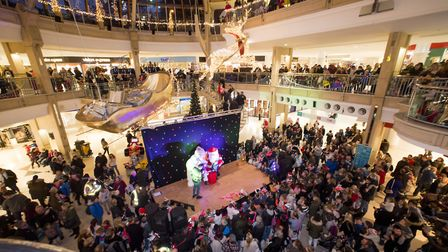 Castle Mall official Christmas Light switch-on for the 2017 festive season.Picture: Nick Butcher