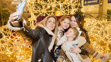 Castle Mall official Christmas Light switch-on for the 2017 festive season.Selfie time for one fam