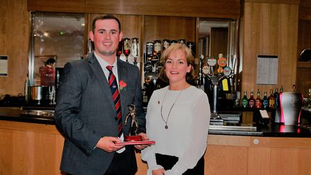 Alliance annual dinner - most wickets award, Alex Wright, Beccles. Picture: Cecil Amey Opticians