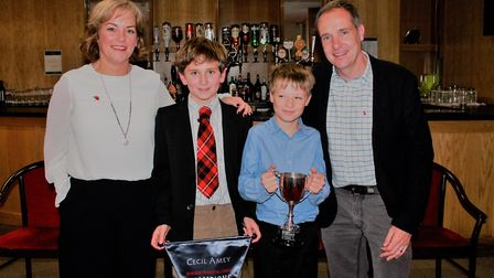Alliance annual dinner - under 11 winners, Great Melton. Picture: Cecil Amey Opticians