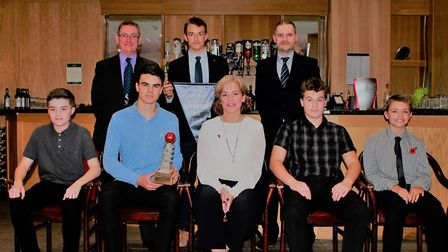 Alliance annual dinner - under 15 winners Horsford. Picture: Cecil Amey Opticians