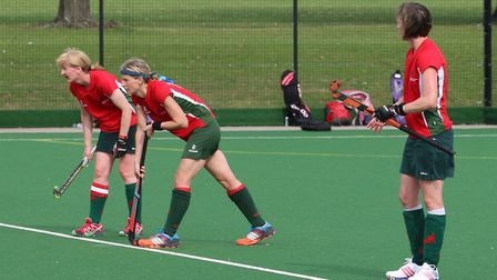 From left to right, skipper Karen O'Neill-Simpson, Hannah Hardy and Laura Ward who all played key ro