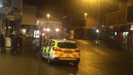 Emergency services were called after reports a young person had fallen from a roof in Great Yarmouth