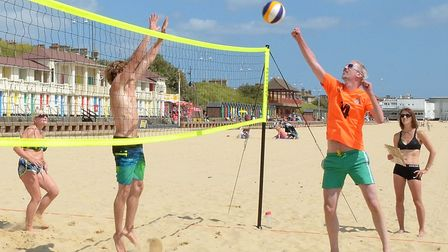 Lowestoft Beach Volleyball Tournament 2017. Picture: Mick Howes