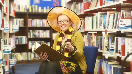 A History of Magic display has begun at the Library in King's Lynn. Pictured is Alison Thorne. Pictu