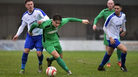 Mitch McKay helped earn Gorleston a point at Thetford. Picture: Nick Butcher