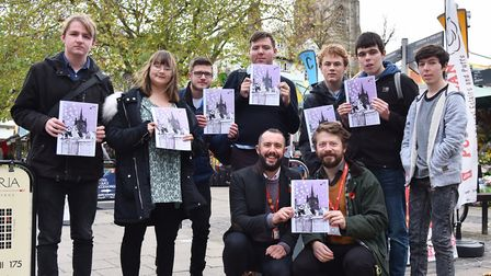 Students from City College have produced an advent calendar featuring market traders. Picture: Sony