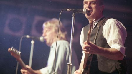 Status Quo playing at Carrow Road, Norwich, on August 2, 1997. Photo: Archant Library