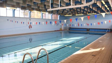 The Thorpe St Andrew High School swimming pool which needs refurbishing and updating. Picture: DENIS
