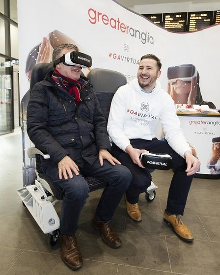 Greater Anglia is giving people the chance to experience its brand new trains through virtual realit