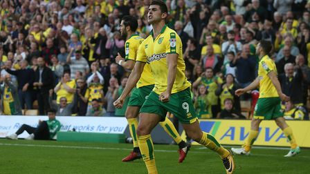 Nelson Oliveira could be the answer to Norwich City's problems in front of goal. Picture: Paul Chest
