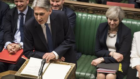 Chancellor Philip Hammond announcing the 2017 Spring Budget in the House of Commons. Photo: �UK Parl