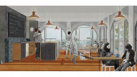 Light and airy: a vision of what Great Yarmouth's refurbished boating lake cafe could look like when
