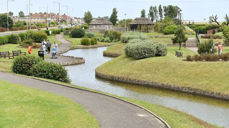 The Waterways and gardens on North Drive in Great Yarmouth. June 2016. Picture: James Bass