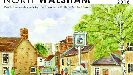 The front of a new calender featuring North Walsham and surrounds. Picture: Watercolour painted by H