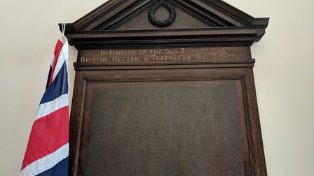 The war memorial at St George's Primary School in Great Yarmouth has been restored. Photo: George Ry
