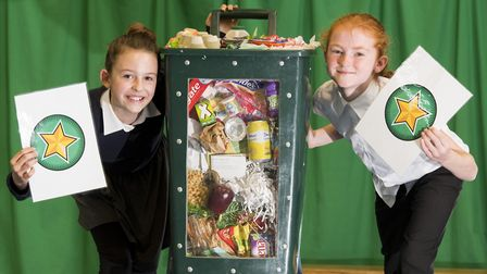 Launch of the 'Recycling Stars' project at Catton Grove Primary School.Amelia Jones and Melissa Sel