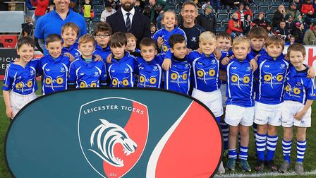 Diss U10s took part in the Prima Cup at Welford Road, the home of Leicester Tigers. Picture: Tiger I