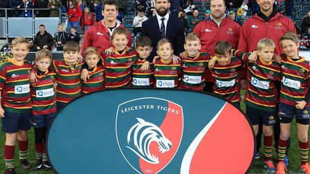 Norwich U10s took part in the Prima Cup at Welford Road, the home of Leicester Tigers. Picture: Tige