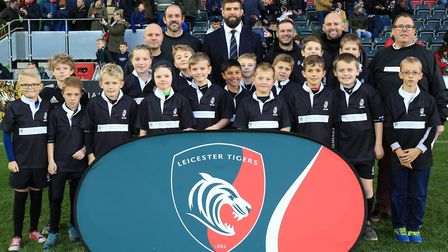 Holt U10s took part in the Prima Cup at Welford Road, the home of Leicester Tigers. Picture: Tiger I