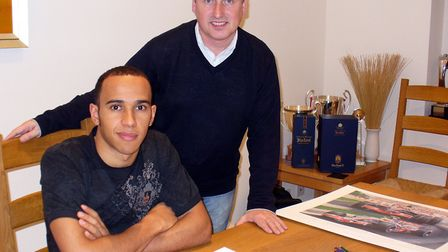 Andrew Kitson has painted for Formula One driver Lewis Hamilton, pictured here in 2007. Picture: Cou