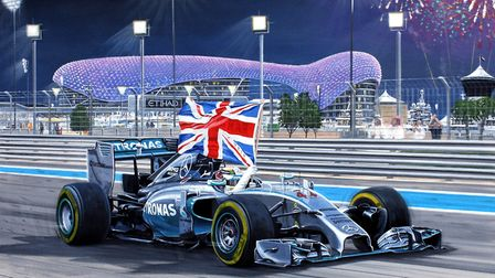 Andrew Kitson's painting for Lewis Hamilton in 2014. Picture: Andrew Kitson