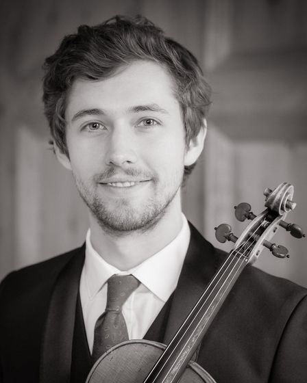 Thomas Leate is a violin soloist, born and bred in Norfolk, who will be performing with the Wymondha