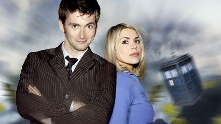 David Tennant as The Doctor and Billie Piper as Rose. PA Photo/Adrian Rogers/BBC.