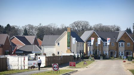 Queen's Hills housing development, Costessey, as a new survey suggests people who are against develo