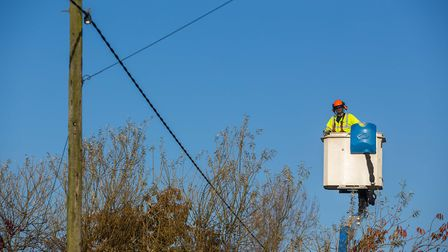 UK Power Networks are working on a fault in Sheringham. Pic: Ciaran McCrickard Photography.