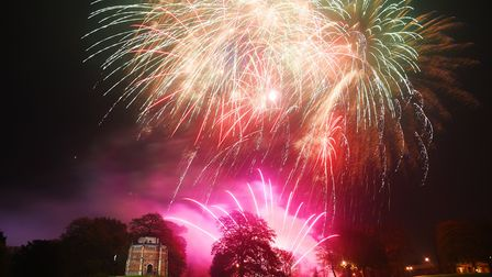 Fireworks light up the nightsky over the Red Mount in King's Lynn. Picture: Ian Burt
