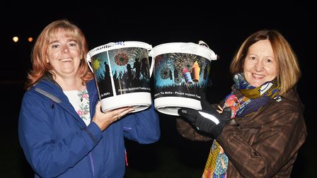 Collecting donations for Fawkes in the Walks are (L) Mel Robson and Liz Nockolds. Picture: Ian Burt