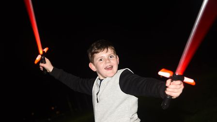 Cameron Jackson (11) having a great time at Fawkes in the Walks. Picture: Ian Burt