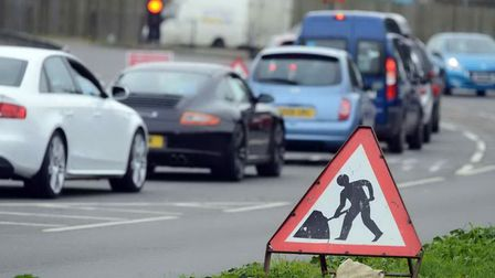 Roadworks warning has been issued. Picture: Matthew Usher.