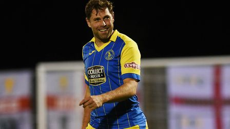 Grant Holt in King's Lynn Town colours. Picture: Ian Burt