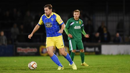 Grant Holt in action for King's Lynn Town. Picture: Ian Burt