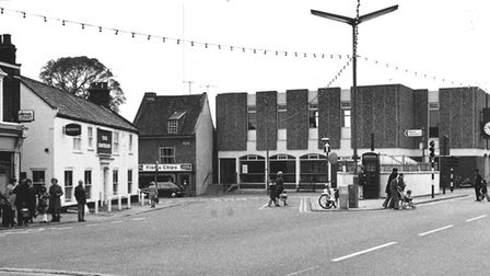 PLACES G Looking from Gorleston High Street to Feathers Plain. The building with the clock is th
