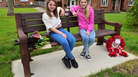 Bench unveiling in memory of Lance Corporal George Davey who died in Afghanistan in 2007. George D