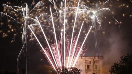 Big Boom fireworks display at Norwich Castle from City Hall. Photo: Mark Bullimore